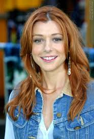 wash and go hairstyles alyson hannigan wash and go style for long hair