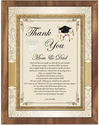 graduation plaque student thank you graduation gift parents spouse support walnut plaque