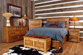 plentiful farmhouse bedroom decorating design with rustic bed