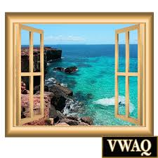 ocean mountain cliff view window frame sea wall decal blue water home peel and stick wall decals 3d window frames ocean mountain cliff view window frame sea wall decal blue water mural vwaq nw2