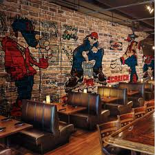 3d abstract european graffiti photo mural vintage wallpaper 3d abstract european graffiti photo mural vintage wallpaper restaurant coffee shop living room wall art decor doodle custom size in wallpapers from home