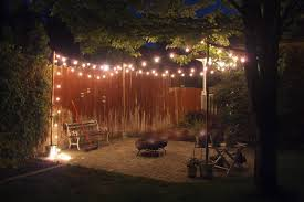backyard patio lights home outdoor decoration