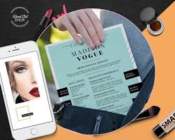 Apple Pages Resume Templates Free Fashion Resume Template Microsoft Word U0026 Apple Pages Downloadable
