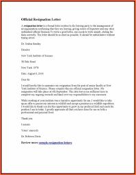 reason for resignation letter work resignation letter sample how