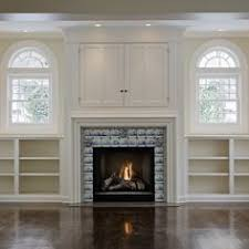 Decorations Tv Over Fireplace Ideas by Built In Window Seat U0026 Bookcase Around Fireplace In Family Room
