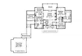 House Plans With Breezeway House Plan Mountain Laurel Stephen Fuller Inc