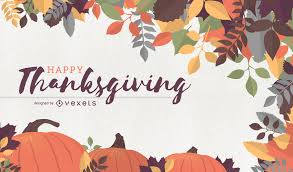 thanksgiving background with pumpkins and leaves vector