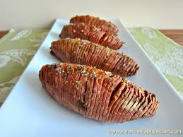 dining with the doc hasselback sweet potatoes the foodie physician