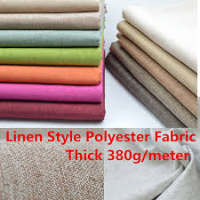 thick linen style polyester fabric curtain cushion table sofa