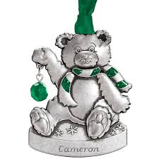 birthstone ornament personalized pewter birthstone ornament kimball