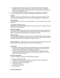 Retail Job Responsibilities Resume by Operations Manager Job Description Marketing Operations Manager