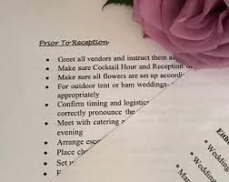 Day Of Wedding Coordinator Wedding Worksheets Etsy