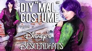 mal costume disney descendants mal diy costume tutorial