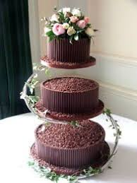 5 Tier Square Wedding Cake Filled With Fresh Flowers Wedding