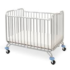 Mini Folding Crib Chromacoat Deluxe Mini Portable Folding Metal Crib Cs 884