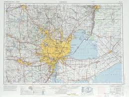 Midland Michigan Map by Detroit Topographic Maps Mi Usgs Topo Quad 42082a1 At 1 250 000