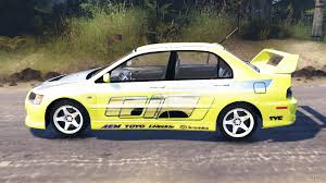 mitsubishi race car lancer evolution ix форсаж 2 for spin tires