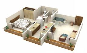 one bedroom house plan pleasurable ideas 1 bedroom house plans 3d 4 25 one houseapartment