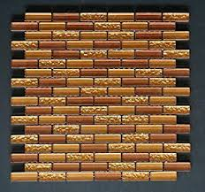 Gold Items Crystal Glass Mosaic Tile Wall Backsplashes by Vogue Premium Quality Copper U0026 Gold Glass Mixed Brick Pattern