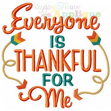 everyone is thankful embroidery design