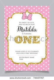 welcome little princess baby shower invitation stock vector
