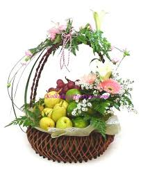 fruit and flower basket send flowers fruits to kolkata send flower to kolkata flower to
