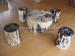 petrified wood end table petrified wood table large slab coffee on steel mount for sale end