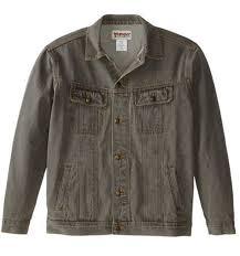Rugged Wear Clothing Wrangler Rugged Wear Denim Jacket Charcoal My Us Store