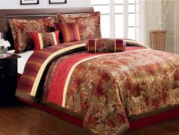 red king quilt set red and gold bedding collections red black and