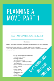 Household Items Checklist by Planning A Move Part 1 And Boy Meet Blog