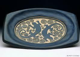 ceramic platter pottery ceramics couling mixed media artist