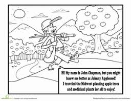 johnny appleseed worksheet education