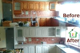 Before And After Kitchen Cabinet Painting Painted Kitchen Cabinets Before And After Kitchen Cabinet Painting