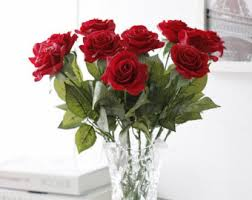 Red Rose Table Centerpieces by Touch Of Red Etsy