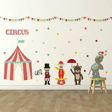 children s circus wall sticker set by oakdene designs children s circus wall sticker set