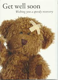 get well soon teddy photographic greeting card pr5155 get well soon teddy