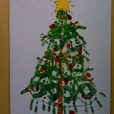 canvas christmas tree holidays handprint art and xmas ideas