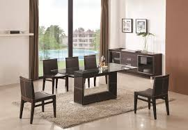 Simple Glass Dining Room Sets For  Excellent Round On Decorating - Modern glass dining room furniture