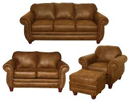 Sedona  Piece Set With Sleeper Traditional Living Room - American furniture living room sets