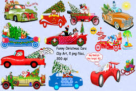 car toy clipart sale 3 christmas cute cars clipart illustrations creative market