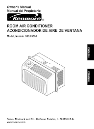 kenmore air conditioners 580 7505 pdf user u0027s manual free download