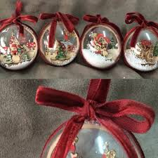2pcs tree ornaments for home clear plastic