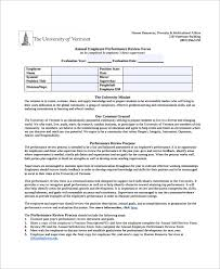 sample employee review template 6 free documents download in