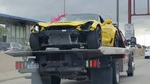 damaged corvettes for sale pics damaged 2015 corvette z06 spotted on a flatbed in chicago