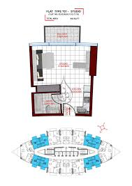 studio flat floor plan by danube studio apartment type t01 floor plan