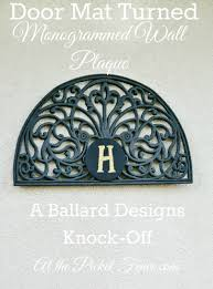 ballard designs monogrammed wall plaque knock off at the picket