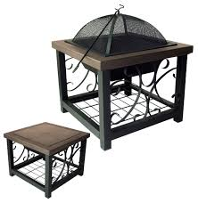 cocktail table fire pit old world bronze finish cocktail table fire pit well traveled living