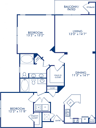 2 Bedroom Floor Plans by 1 2 U0026 3 Bedroom Apartments In Spring Tx Camden Spring Creek