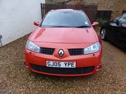 renault orange renault megane sport 225 in inferno orange 2005 leather 5 door