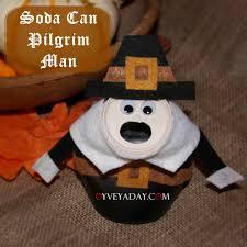 diy thanksgiving soda can pilgrim from oyveyaday